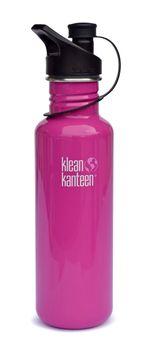 Klean Kanteen Trinkflasche Classic einwandig Flamingo 27oz  (800 ml) mit Loop Cap Edelstahl – Bild 4