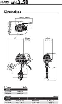 Tohatsu MFS3.5B Außenborder Boot Motor - verschiedene Varianten erhältlich – Bild 2