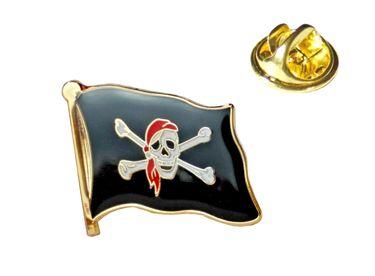 MADSea Flaggenpin Pirat rotes Kopftuch Anstecknadel Pin  – Bild 1