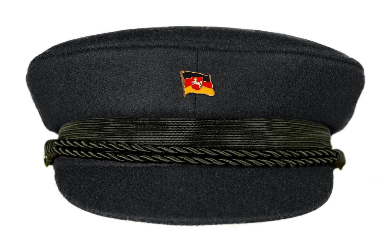 MADSea Elbsegler Premium Tuch mit Flaggenpin Niedersachsen schwarz Pin