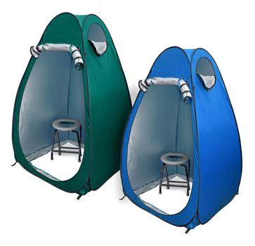 24ocean WC Klo-Set - Klapptoilette grau mit Pop-Up Zelt Duschzelt Umkleidezelt – Bild 1