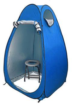 24ocean WC Klo-Set - Klapptoilette grau mit Pop-Up Zelt Duschzelt Umkleidezelt – Bild 2