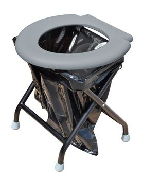 24ocean Klapptoilette grau mit Pop-Up Zelt Duschzelt Umkleidezelt - WC Klo Set – Bild 12