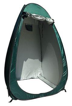 24ocean Klapptoilette grau mit Pop-Up Zelt Duschzelt Umkleidezelt - WC Klo Set – Bild 6
