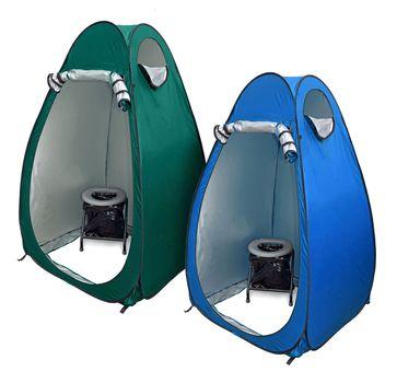 24ocean WC Klo Set - Klapptoilette grau mit 30 Beuteln mit Pop-Up Zelt Duschzelt Umkleidezelt – Bild 1
