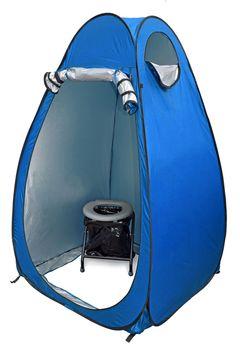 24ocean WC Klo Set - Klapptoilette grau mit 30 Beuteln mit Pop-Up Zelt Duschzelt Umkleidezelt – Bild 2