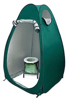 24ocean WC Klo Set - Klapptoilette weiß 32 Kompostbeutel mit Pop-Up Zelt Duschzelt Umkleidezelt – Bild 3