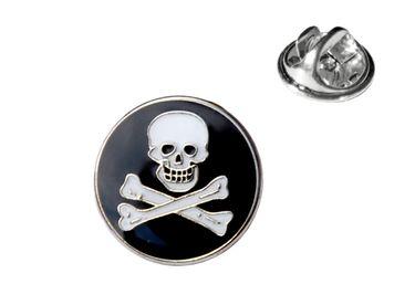 MADSea Motivpin Pirat rund goldfarben Anstecknadel Pin  – Bild 1