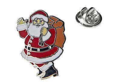 MADSea Motivpin Weihnachtsmann silberfarben Anstecknadel Pin  – Bild 1