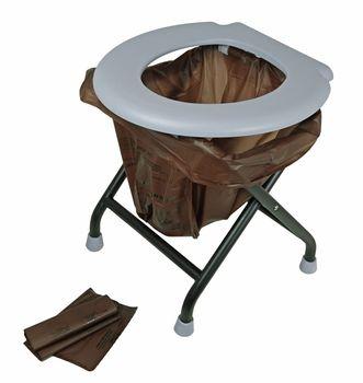 24ocean mobile Klapptoilette grau mit 16 kompostierbaren Beuteln WC Klo klappbar – Bild 1