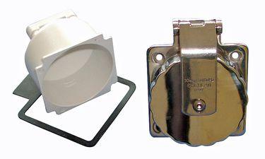 Osculati Edelstahl Steckdose für Landanschluss bis 30 Ampere