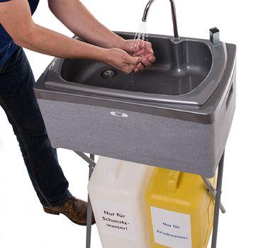 BUT Handwaschbecken BS 25 frei stehend mit 25 Liter Wasservorrat – Bild 1