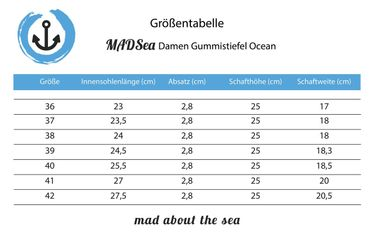 MADSea Damen Gummistiefel Ocean Anchor gelb Anker Design – Bild 2