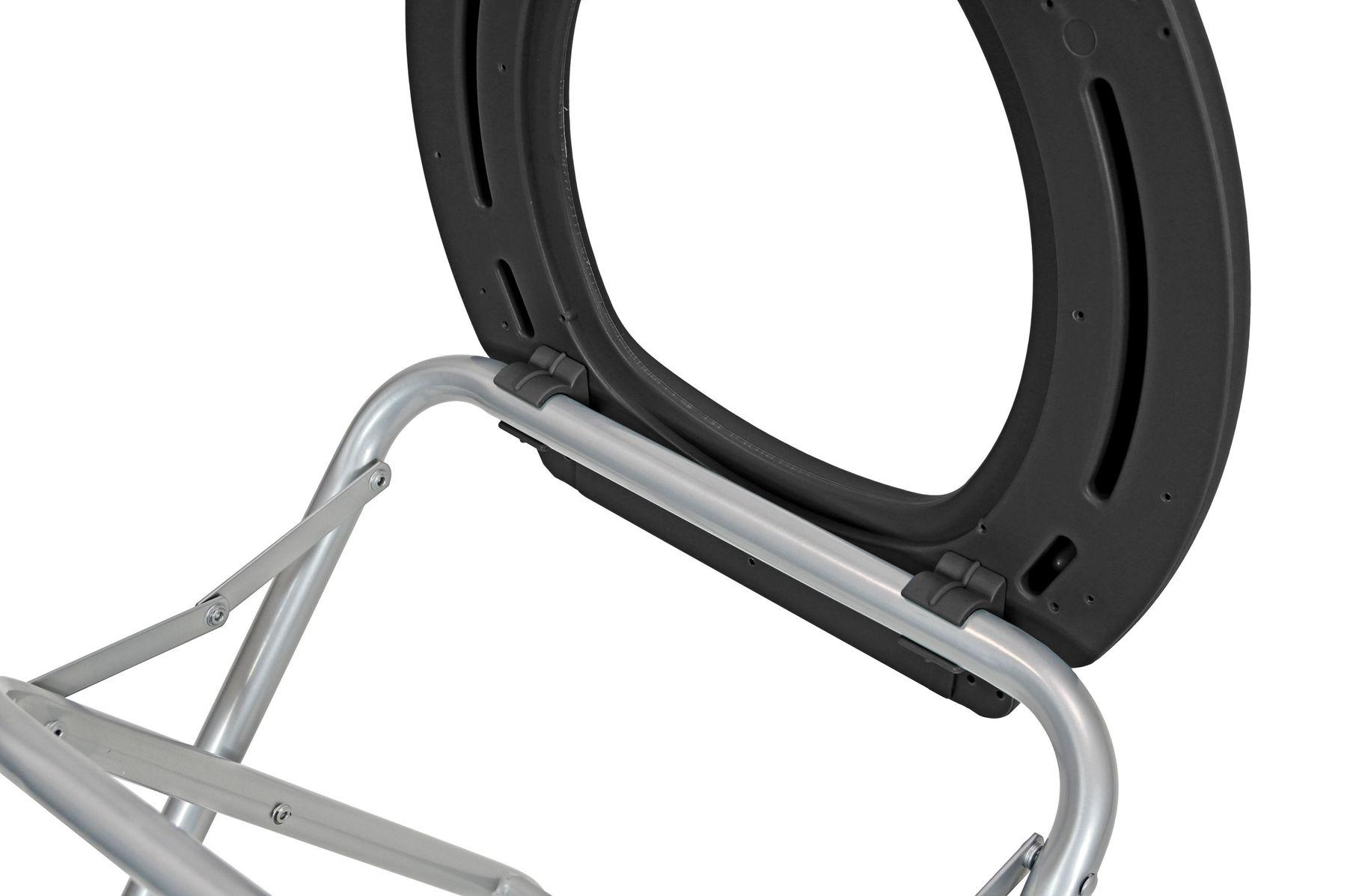 Farbe:schwarz 24ocean Mobile Klapptoilette Metallgestell Silber WC Klo