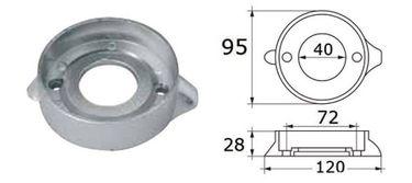 Navyline Magnesium Ring Anode Volvo – Bild 2