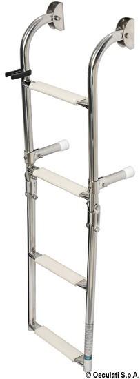 Osculati Edelstahl Klapp-Badeleiter mit 4 Stufen - 900mm - standard Modell