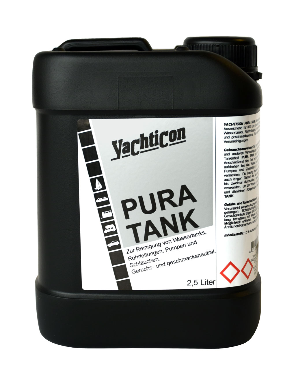yachticon pura tank ohne chlor 2 5 liter. Black Bedroom Furniture Sets. Home Design Ideas