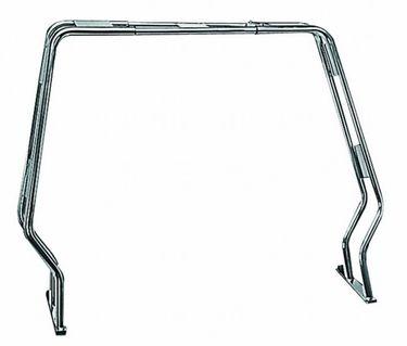 Osculati Edelstahl Geräteträger klappbar B 125-180 cm, Höhe 120cm