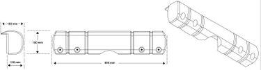 Dan-Fender großer Multifunktions-Stegfender - 900 x 180 x 130/180 mm – Bild 11