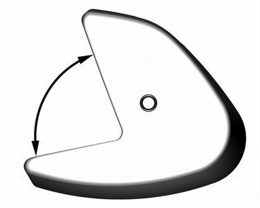 Polyurethan Heckfender Match 80 - 660mmx280mmx240mm - weiß – Bild 2