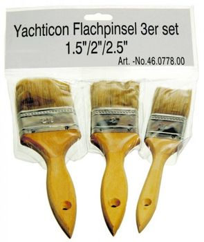 "Flachpinsel Pinsel 3er Set 1,5"" 38mm 2"" 51mm 2,5"" 64mm"