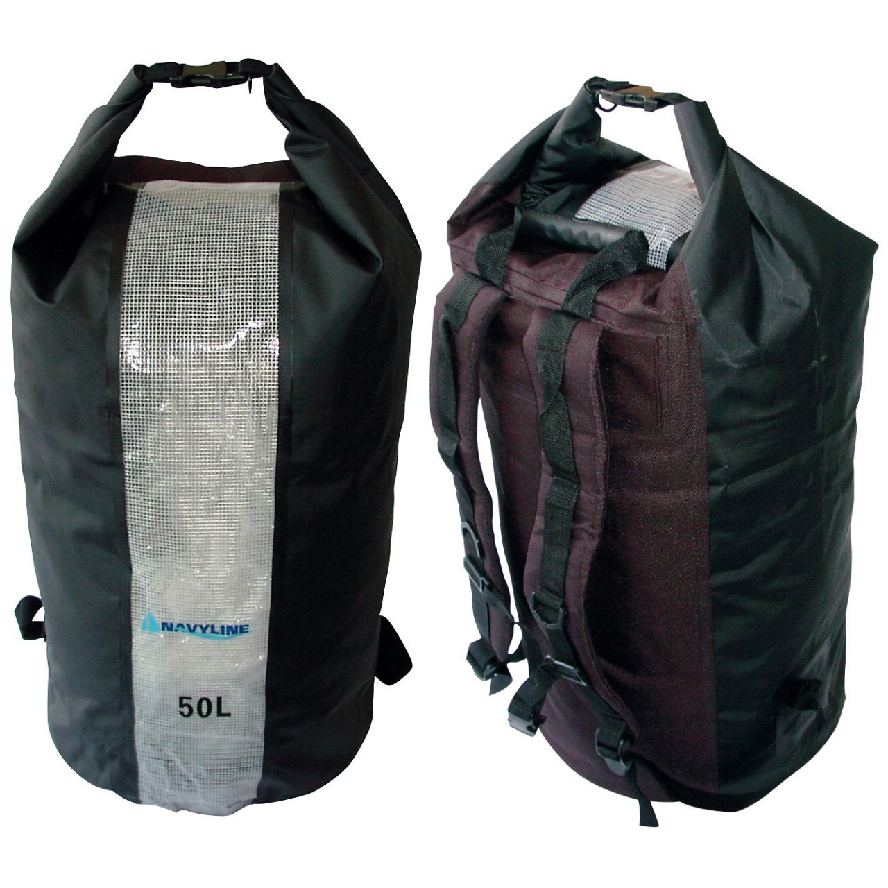 wasserdichter rollbeutel 50 liter mit trageriemen rucksack seesack wasserdicht ebay. Black Bedroom Furniture Sets. Home Design Ideas