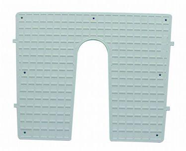 Heckschutzplatte für Außenborder 450x360mm