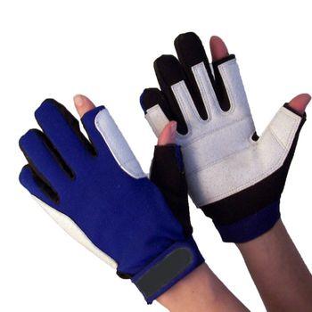 Navyline Segelhandschuhe Amara Kunstleder Neopren - 2 Finger frei XS S M L XL