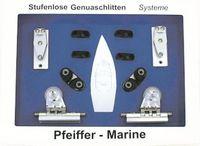 Genua Schlitten System als Komplettset für Schiffe bis 9,5m - ideal zum Nachrüsten 001