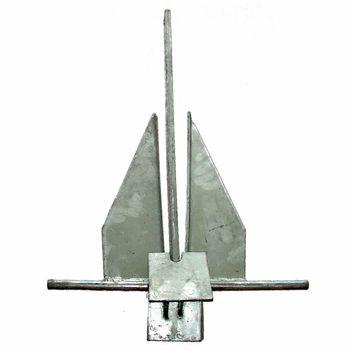 Danforth Anker verzinkter Stahl 4,0 kg