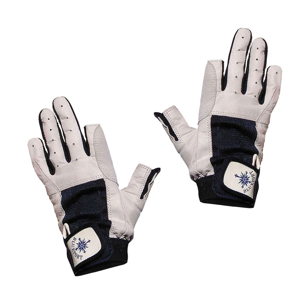 Bekleidung Navyline Segelhandschuhe Amara Kunstleder 2 Finger geschnitten Handschuhe Segeln Handschuhe