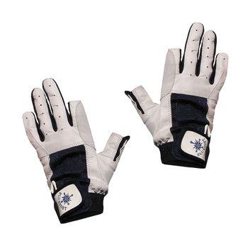 Blueport Damen Herren Segelhandschuhe Leder 2 Finger frei – Bild 1