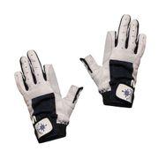 Blueport Damen Herren Segelhandschuhe Leder 2 Finger frei 001