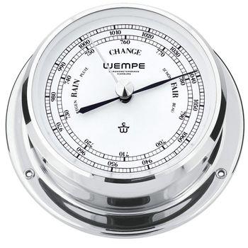 Wempe Messing verchromt Barometer Skiff Ø 110mm
