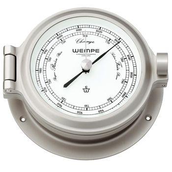 Wempe Barometer Nautik Nickel Ø 120mm - Schweremesser Druckmesser