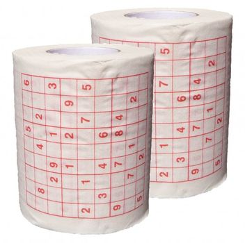 Yachticon bedrucktes Toilettenpapier 2 Rollen Sudoku – Bild 1