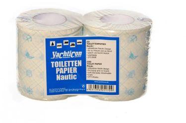 Yachticon Toilettenpapier bedruckt - 2 Rollen Nautic Design – Bild 2