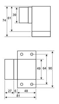 BMB 8612.060 Aluminium Türstopper mit Gummipuffer – Bild 2