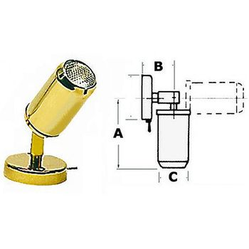 Osculati Messing Halogen Leselampe Boot & Caravan 12V neigbar