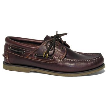 BluePort Herren Bootsschuh Klassik Comfort Seafox Brown