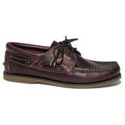 BluePort Herren Bootsschuh Klassik - Comfort Segelschuh in braun mit brauner Sohle 001