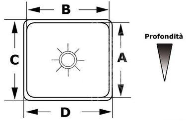 Osculati Edelstahl Spüle rechteckig 175 x 325 mm – Bild 2
