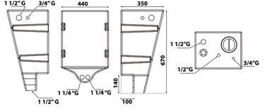 Osculati Polyproylen Trinkwassertank für die Wandmontage - 60 Liter – Bild 3
