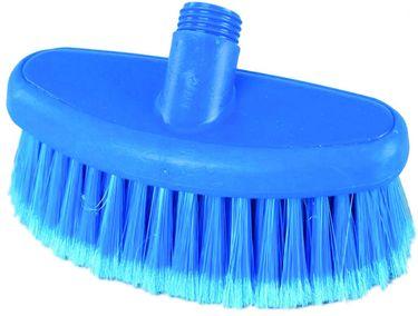 Navyline Bürstensystem - Waschbürste oval blau - 200x80mm - weich mit Wasserdurchlauf