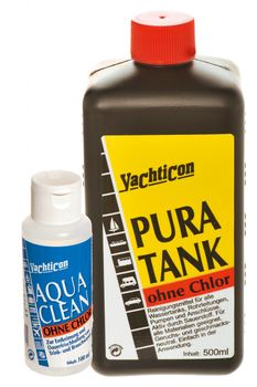 Yachticon Pura Tank 500ml & Aqua Clean AC 1000 ohne Chlor 100ml