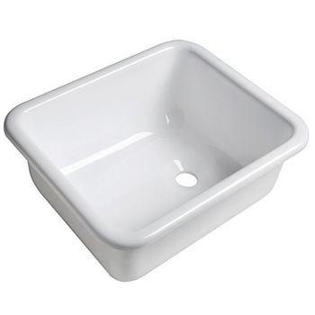 Osculati Plexiglas Spüle weiß glänzend 330x280x140mm