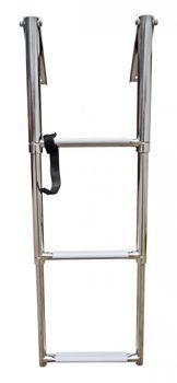Osculati Edelstahl Leiter für Badeplattform ausziehbar mit Griffen - erhältlich in 4 Varianten - – Bild 2