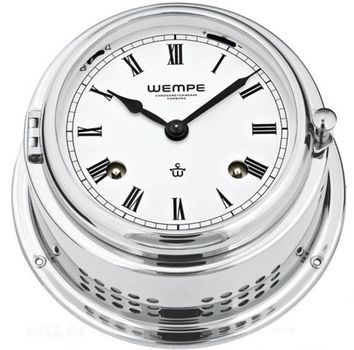 Wempe Glasenuhr Bremen II Messing verchromt mechanisch