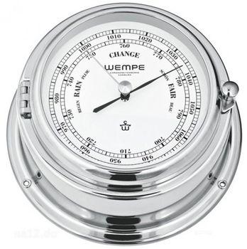 Wempe Barometer Bremen II Messing verchromt