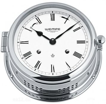 Wempe Glasenuhr Admiral II Messing verchromt mechanisch